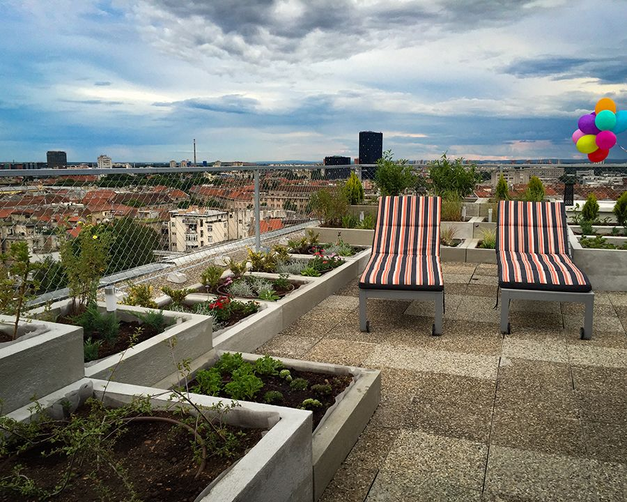 Walkable Flat Roof - terace with a view