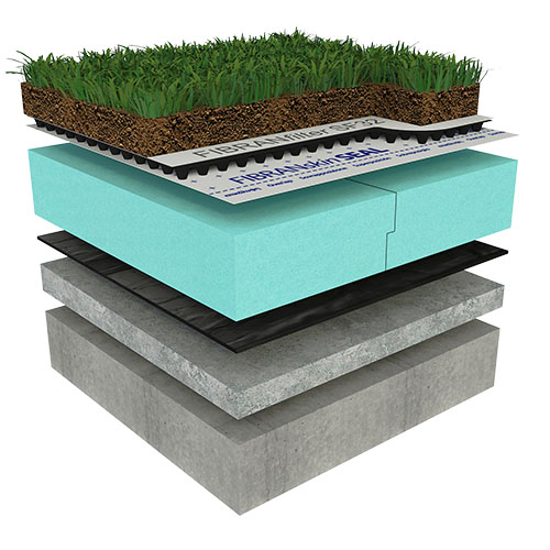 Ozelenjena polintenzivna ravna streha - CLASSIC