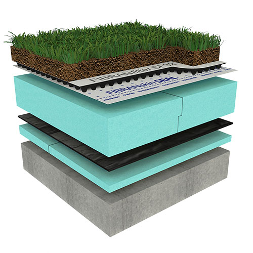 Ozelenjena polintenzivna ravna streha - OPTIMO