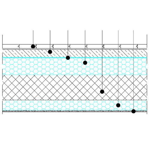 Strop proti neogrevanemu prostoru - osnovni detajl