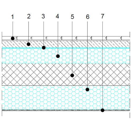 Tla proti neogrevani kleti - osnovni prerez