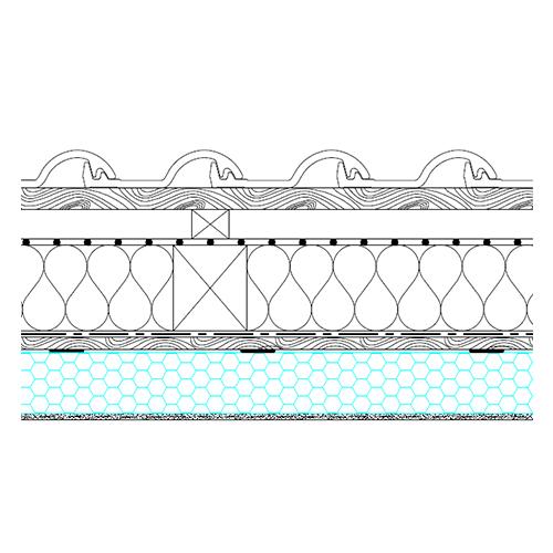 Skeletna streha - osnovni prerez