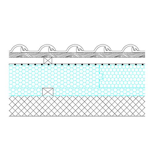Masivna streha - prerez